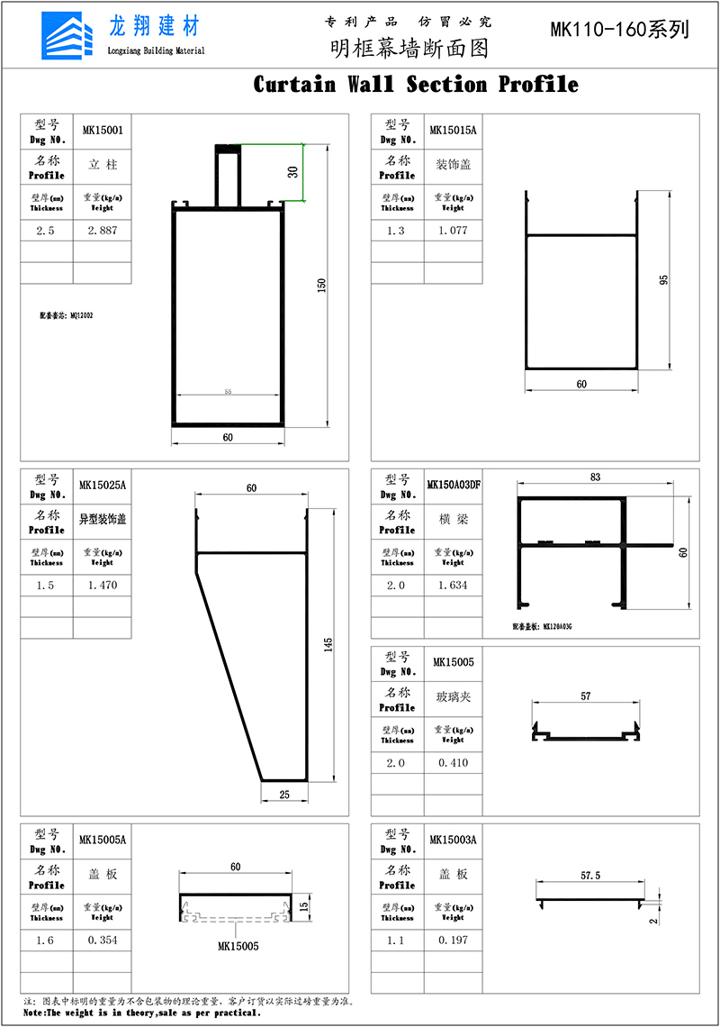 Curtain Wall Section Profile-4